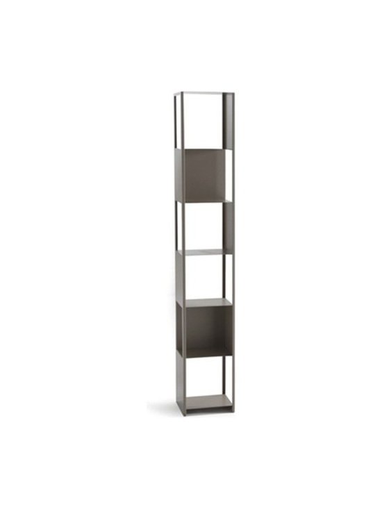 Cattelan Italia - Cattelan Italia | Joker Bookcase - Made in Italy by Cattelan Italia.Get a taste of modern bookkeeping with the Joker Bookcase. Crafted from steel, it adds a utilitarian charm, combined with unmistakeable sophistication, whether in a modern study or bedroom. Tall and elegant, each shelf holds up to 7 kg (15.4 pounds). Select the perfect color to harmoniously blend into your modern home. Offering six shelves for ample space for all your books and accent objects, it is true testament to Italian design, workmanship, and practicality.