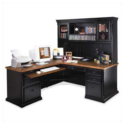 southampton onyx l shape executive desk with optional