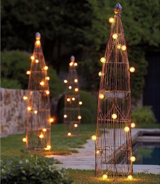 Wire Garden Trellis eclectic-garden-sculptures