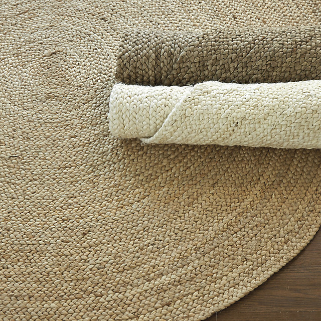 Round Braided Jute Rug Farmhouse Rugs by Ballard Designs