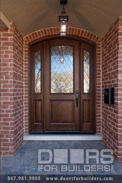 SOLID WOOD ENTRY DOORS-DIAMOND GLASS-DOORS FOR BUILDERS, INC  front doors