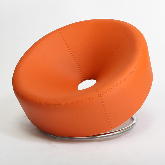 Modern round orange accent chair modern armchairs and for Contemporary armchair