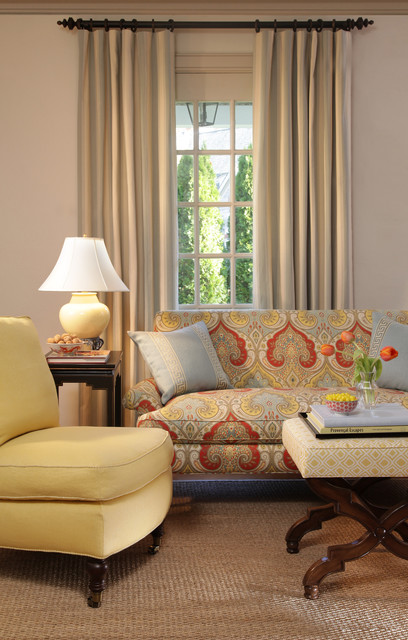 Sunrise Fabric Collection traditional-living-room