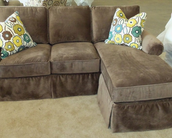 """Customer Custom Orders - Rowe Hermitage """"Faux"""" Slipcover Sofa with Chaise Accessory - You Choose the Fabric"""