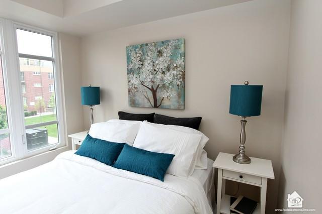 Home Staging of Toronto Condo contemporary-bedroom
