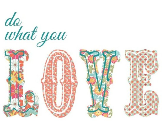 """Brewster Home Fashions - Do What You Love Wall Quote Decal - The Do What You Love wall quote serves as a beautiful reminder to follow your heart. Bring a poetic and boho-chic look to your space with the convenience of a peel and stick decal that will not harm your walls. The Do What You Love wall quote comes on two 9.75"""" x 17.25"""" sheets. WallPops are repositionable and totally removable."""