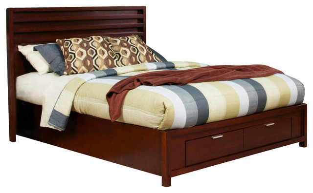 Camarillo East King Platform Bed with Storage Footboard contemporary-beds