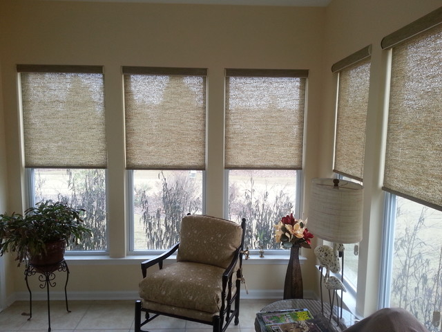 Sunroom Beach Style Window Treatments Charleston