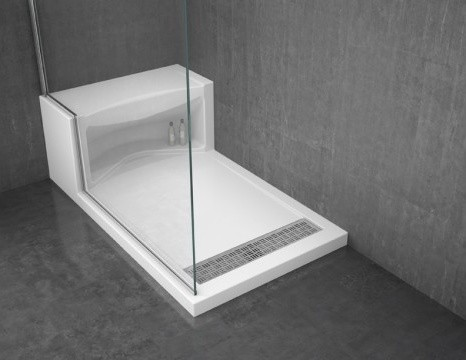 Alessa shower base modern bathroom vanities and sink consoles