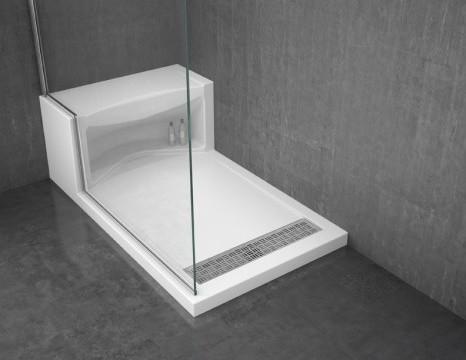 Alessa shower base modern-showerheads-and-body-sprays