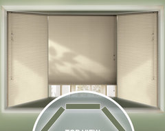 Bay Window Blinds contemporary-cellular-shades