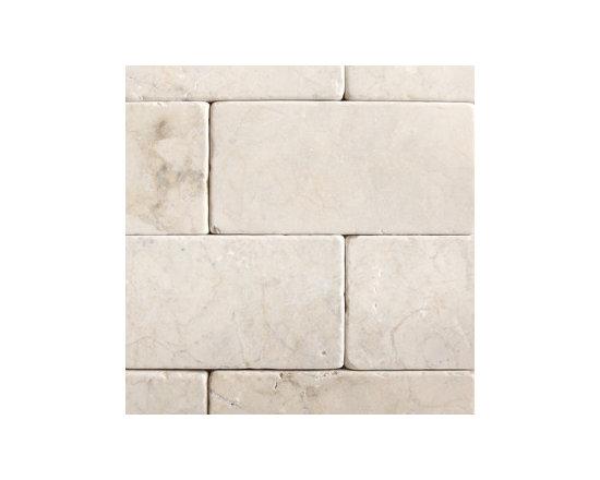 "3""x6"" crema Marfil Honed Brick Pattern Natural Stone Mosaic -"