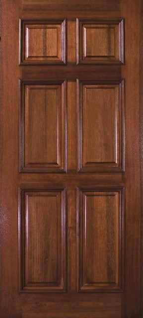 Pre-hung Home Single Door 80 Wood Mahogany 6 Panel Solid - Rustic - Front Doors - tampa - by US ...