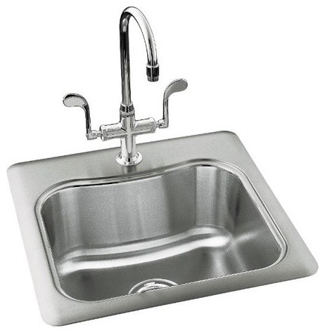 Staccato Single-Basin Self-Rimming Entertainment Sink modern-bath-products