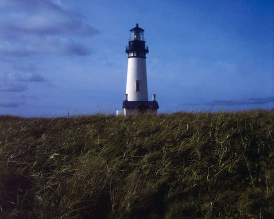"""Yaquina Head Lighthouse - C-print, unmanipulated transparency film image, 26""""x26"""" image size, 30""""x30"""" paper size, edition of three c-prints, edition of three pigment prints. Signed, numbered and captioned in ink on the verso."""