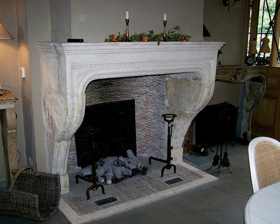 Antique Fireplaces out of Reclaimed Antique Stone (Mediterranean Style) -