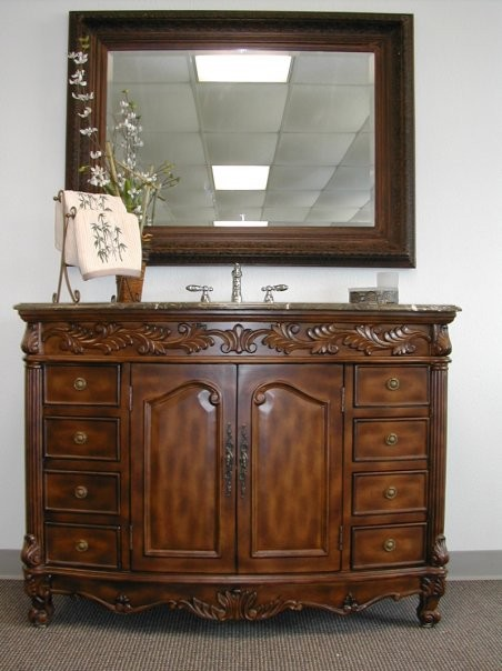 Large Vanity traditional bathroom vanities and sink consoles