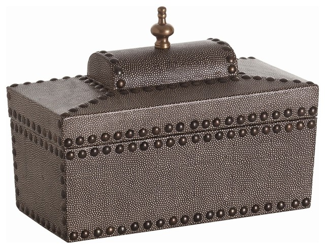 Venetian Hinged Coffer contemporary-decorative-boxes