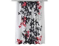 Zen Leaf Shower Curtain modern-shower-curtains