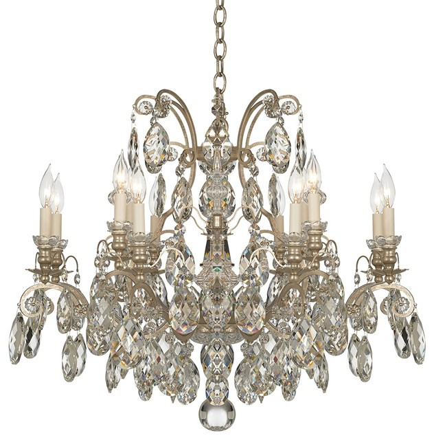 Crystal schonbek renaissance collection 33 wide crystal chandelier traditional chandeliers - Traditional crystal chandeliers ...