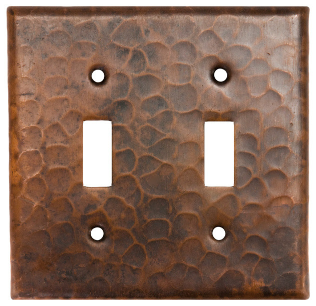 Copper Switchplate Double Toggle Switch Cover rustic-switch-plates-and-outlet-covers