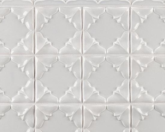 """Ceramic - ANN SACKS Revival 4"""" x 4"""" folded petal ceramic decorative tile in dew"""