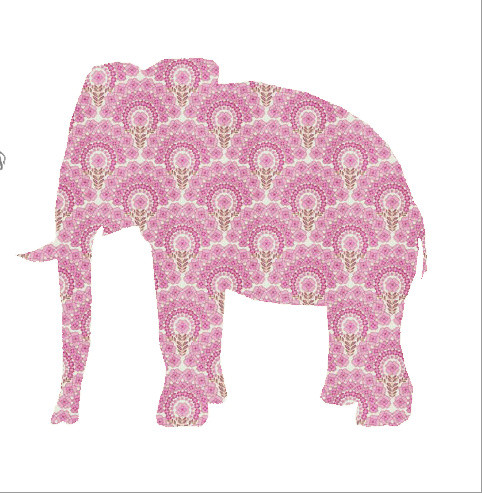 Elephant Wallpaper Decal eclectic-wall-decals