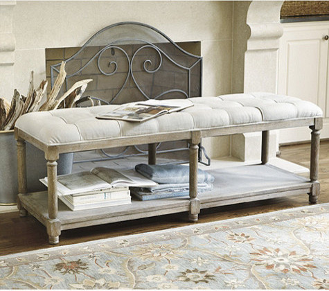 Bedroom Benches Ideas Tufted Bench Contemporary Upholstered Benches By Ballard Designs