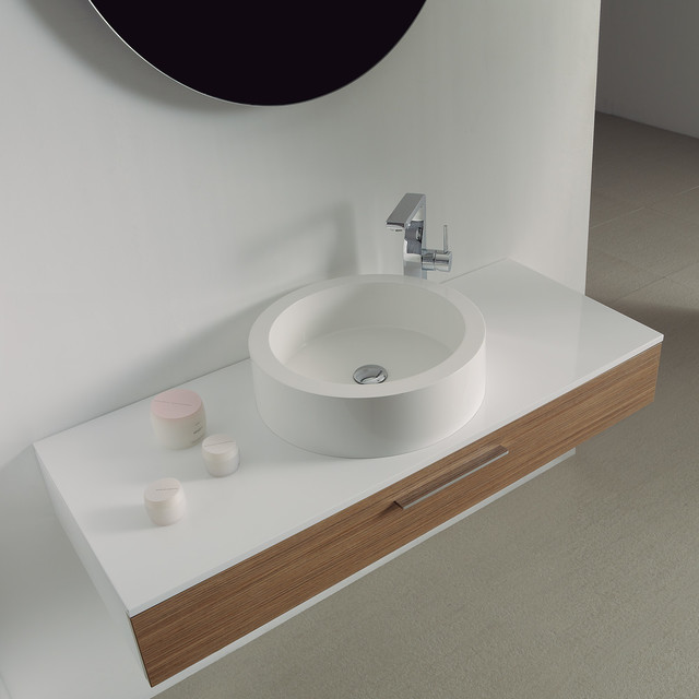 Milano Stone Vogue Large Wall Mounted Designer Bathroom Vanity Unit 1200 Cont