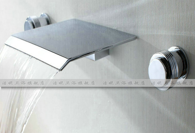 NEW**deck mount Waterfall basin faucet chrome finish 8824 modern-bathroom-faucets