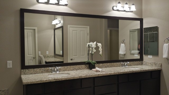 Las Vegas Master Bathroom Mirror And Vanity Mirror Before