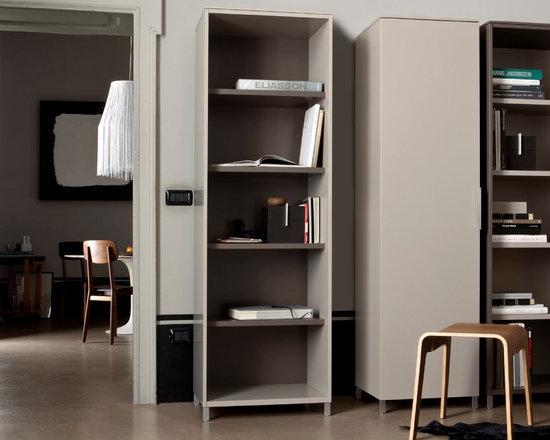 Everywhere - Ligne Roset - Everywhere Bookcase, Break Stool.
