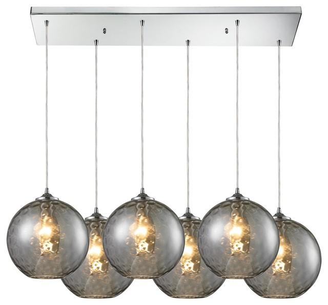 ELK Lighting 31380/6RC-SMK modern-pendant-lighting