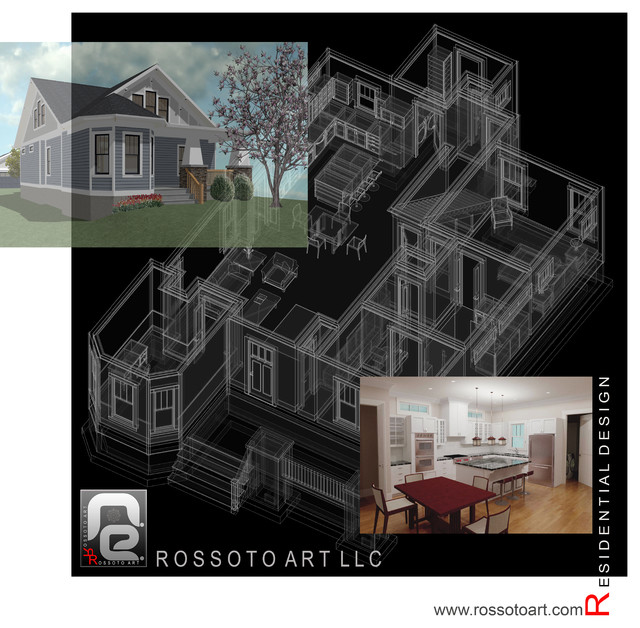Bungalow 3d Rendering Contemporary Bungalow Rendering: Small House Bungalow Design For Historic Neighborhood