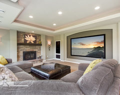 Shorewood Basement contemporary-basement