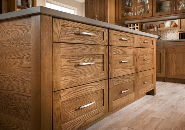 Mission Oak Tawny - Eclectic - other metro - by Shenandoah Cabinetry