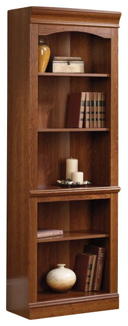 Sauder Camden County Library in Planked Cherry transitional-bookcases