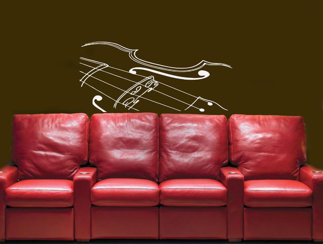 Wall Vinyl Sticker Decals Art Mural Cute Violin Silhouette wall-decals