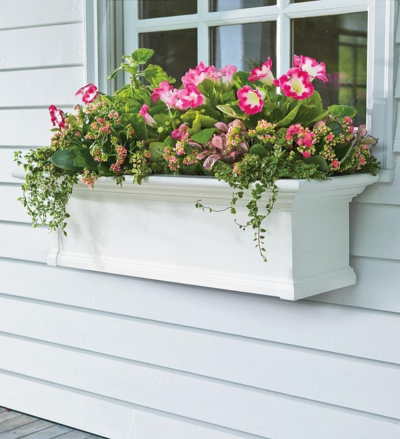Self Watering Window Boxes Modern Outdoor Pots And