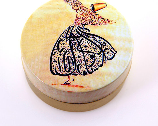 Turkish Hammam - Handmade Natural Olive Oil Soap in Round Tin Box Adorned with Rumi (Whirling Dervish) Sign