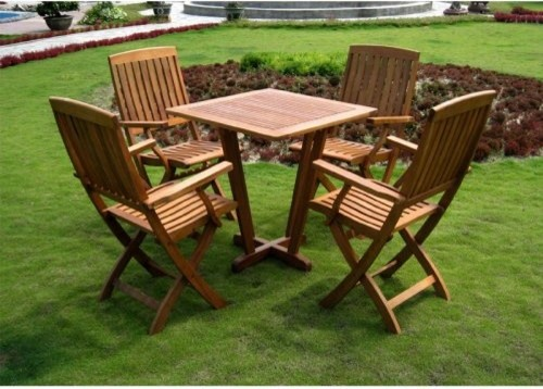 International Caravan Royal Tahiti Gibraltar Outdoor Wood Patio Dining Set