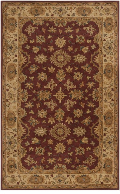 Traditional Clifton 2'x3' Rectangle Red Clay-Parchment Area Rug traditional-rugs