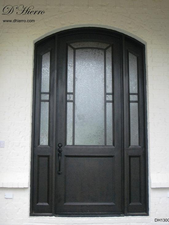 Iron Doors - Exterior - Double Iron Door with Windows