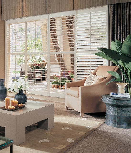 Shutters beach-style-window-blinds