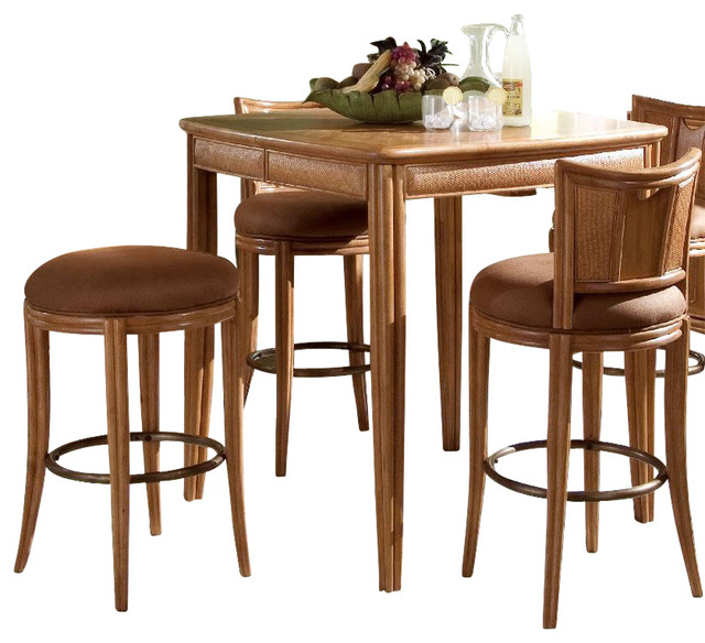 American Drew Antigua 6 Piece Dining Room Set In Toasted Almond Traditional