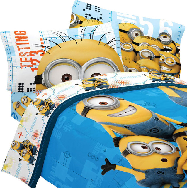 despicable me twin bedding set minions testing 123 bed