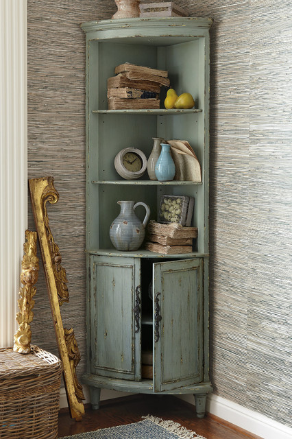 Maldives Corner Cabinet - Rustic - Kitchen Cabinetry - other metro - by Soft Surroundings