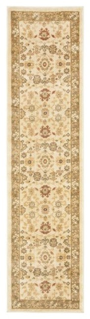 "Traditional Heirloom Hallway Runner 2'3""x8' Runner Creme - Creme Area Rug traditional-rugs"