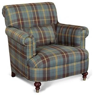 Ralph Lauren Chair, Carsen Sage Plaid - Traditional ...