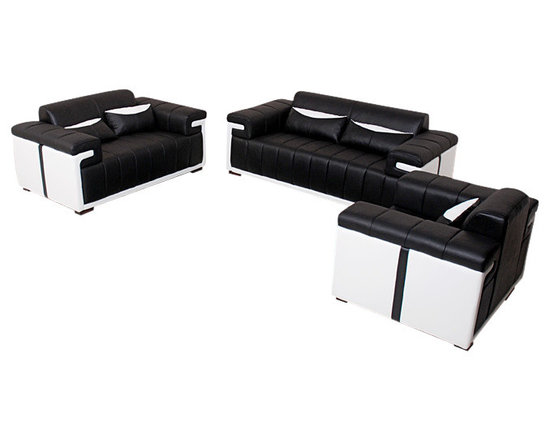 Scene Furniture - EA Leather Sofa Set - This unique sofa set is hand produced with genuine Italian leather and is designed with a very distinct look. 16 colors are available for you to mix and match with.